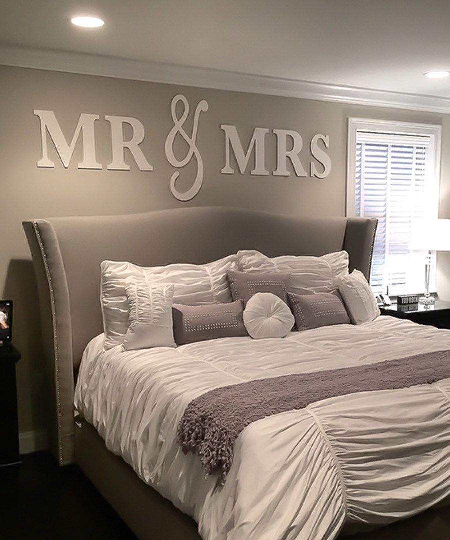 Mr  mrs wall sign wedding or above bed decor and for over headboard home bedroom  item also look at this white art on zulily today rh pinterest