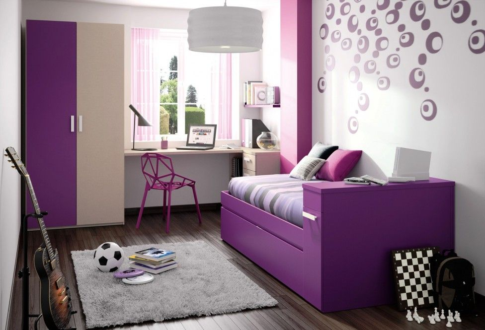Small Room Ideas for Girls with Cute Color Popular Purple ...