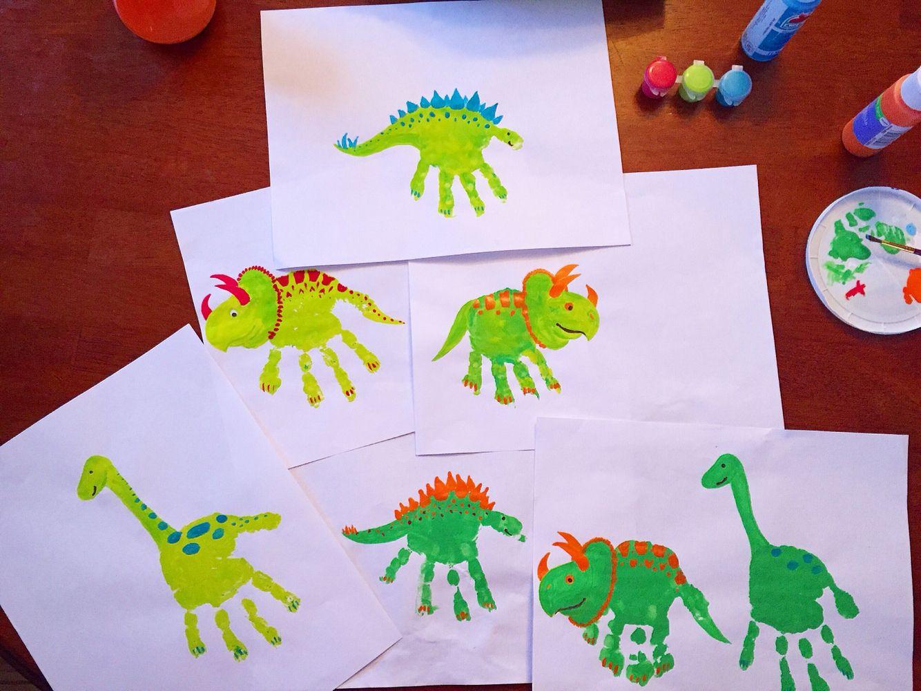 Dinosaur Handprints