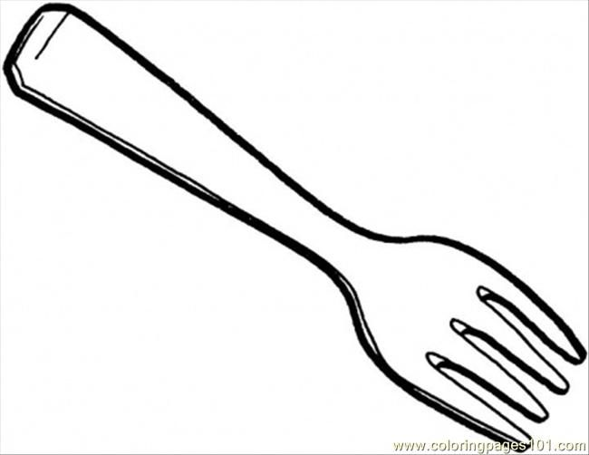 fork colouring pages Sheen