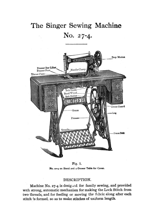 1906 Edwardian Singer Treadle Sewing Machine Attachments