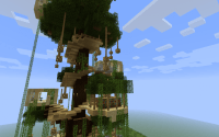 minecraft tree houses   Minecraft Pe Tree Houses ...
