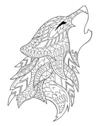 wolf coloring page by syvanahbennett on Etsy   Coloring ...
