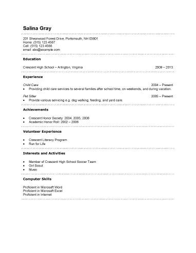 first time job resume summary no work experience resume template