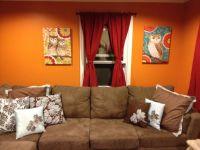 Orange Wall Paint Living Room | www.imgkid.com - The Image ...