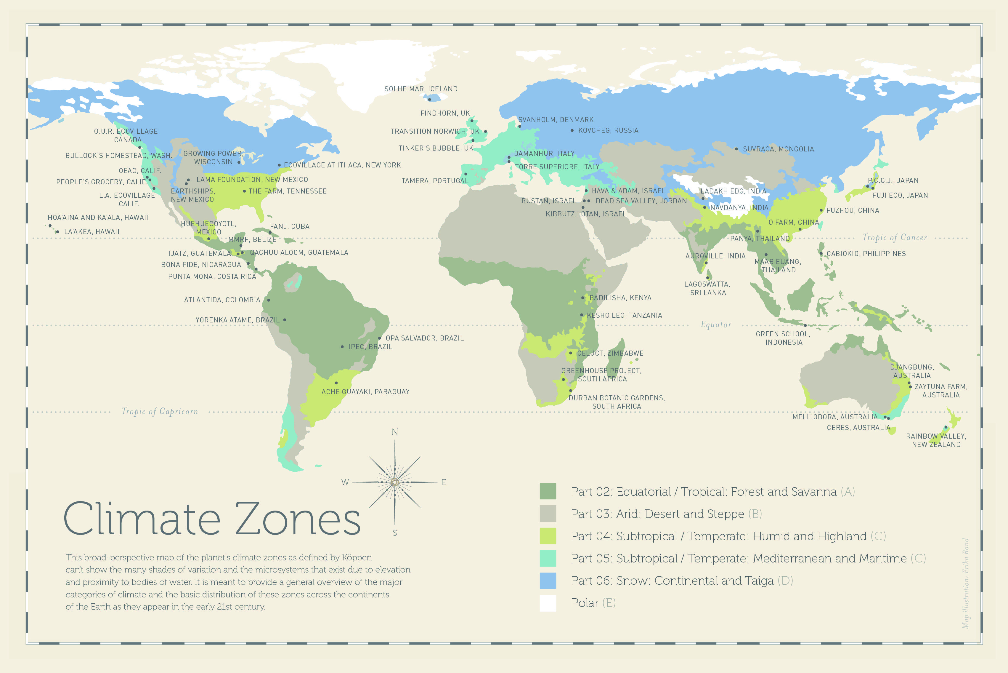 Climate Zones Map Revised