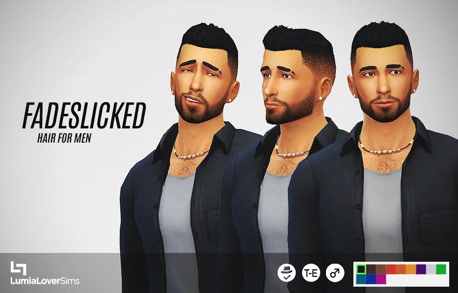 Hairstyle Black Cc Men 4 Sim