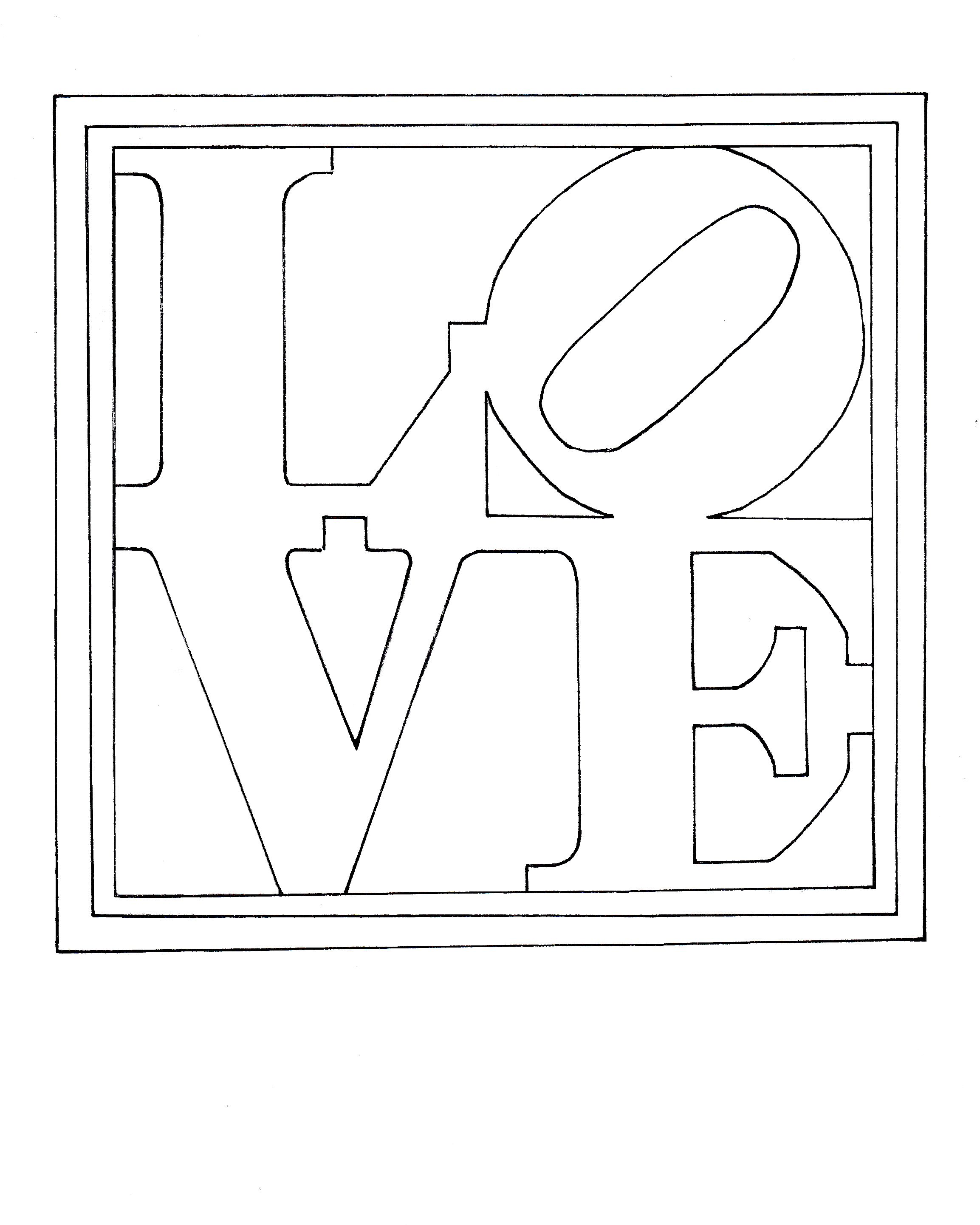 Colouring Page Of Robert Indiana S Famous Painting