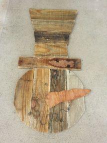 Pallet Wood Snowman . Primitive Decor And Crafts