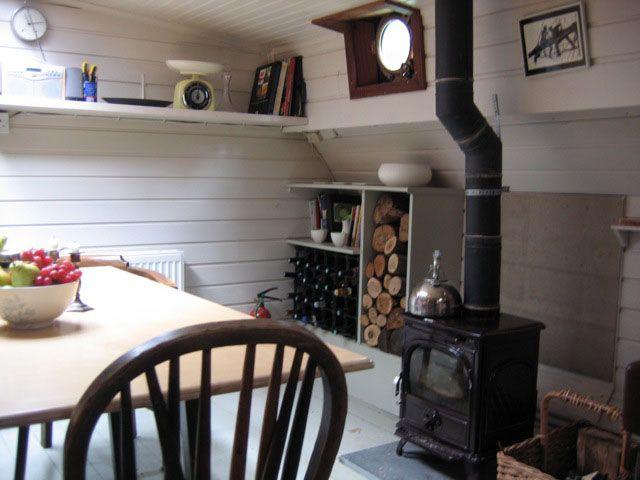 dark wood kitchen table utensil holder ideas best 25+ dutch barge on pinterest | boat interior ...