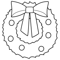 Christmas Wreath - Coloring Page (   wreaths   Pinterest ...