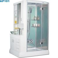 that is a compact shower and hand basin all in one. Love ...