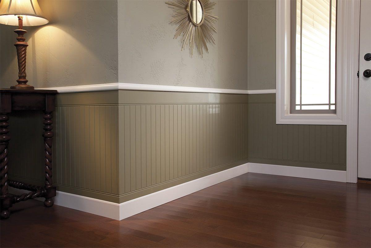 Painted Wood Paneling Walls