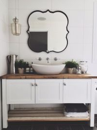 Modern country style bathroom ensuite freestanding vanity ...