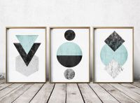 Gallery Wall Print Set Art Prints - Abstract Art Prints ...