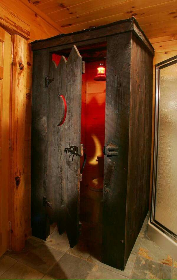 Indoor Outhouse Barn Party Pinterest Cabin House And Bath