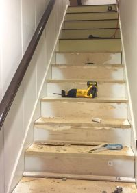 Stairway Makeover - Swapping Carpet for Laminate ...