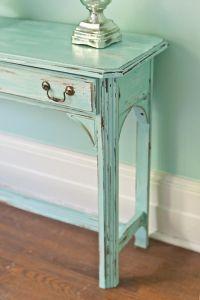 shabby chic sofa table vintage aqua blue by ...