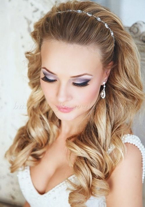 Wedding Hairstyles With Headband Hair Down Wedding Hairstyles