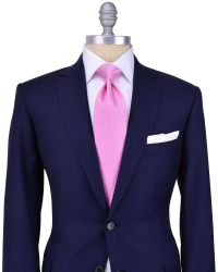 Navy suit and mesmerizing pink tie! Stanley Korshak ...