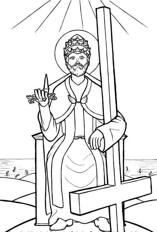 Saint Peter holding the keys to the kingdom Catholic