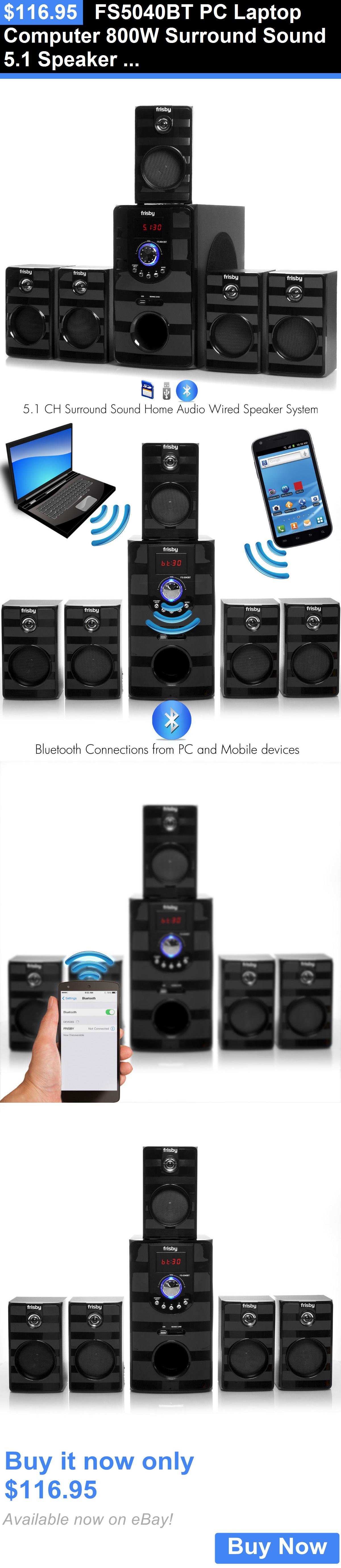 Home audio fs bt pc laptop computer  surround sound speaker system  bluetooth also rh pinterest