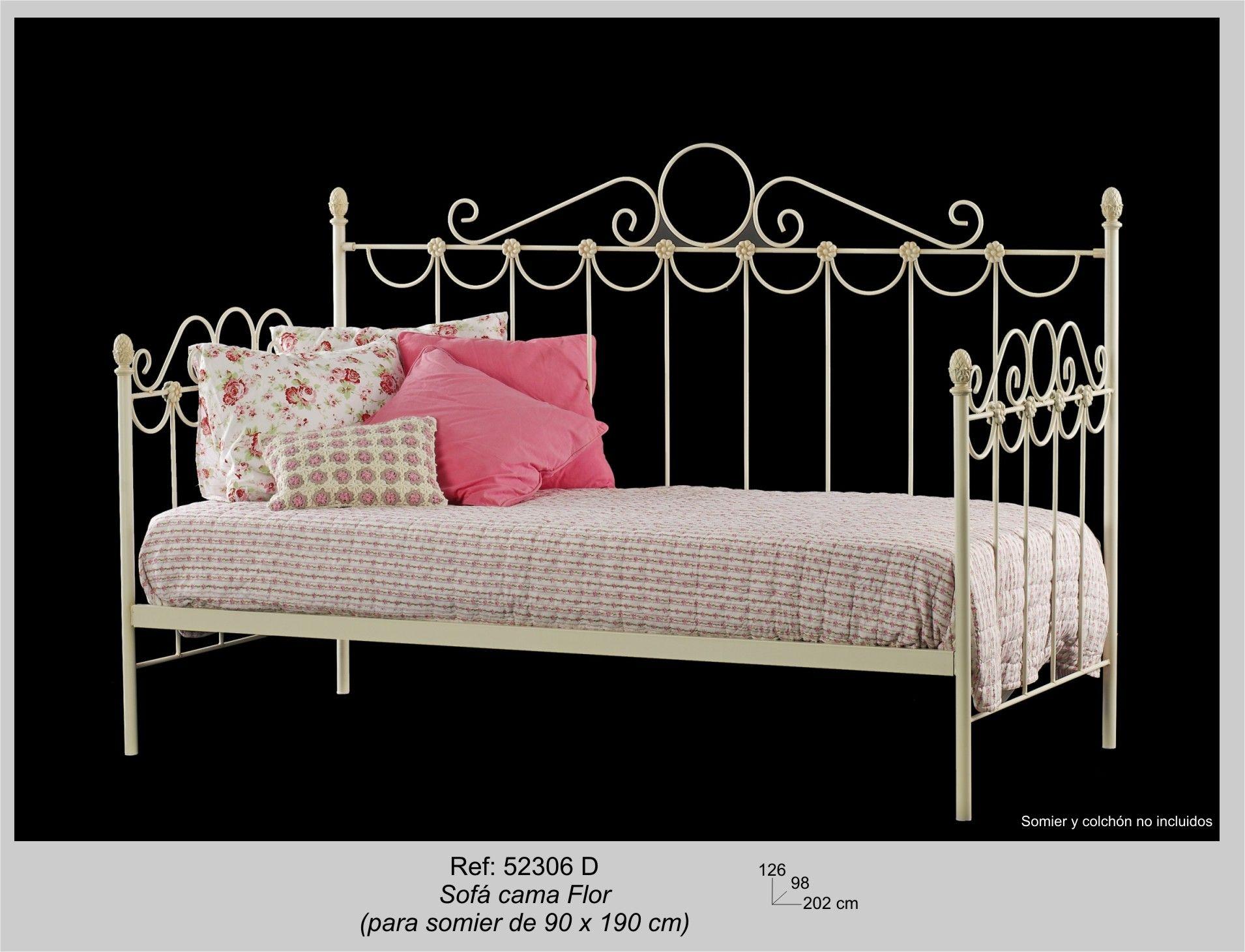 cama sofa forja modular leather sectional uk flor sin colchón y somier su estilo en