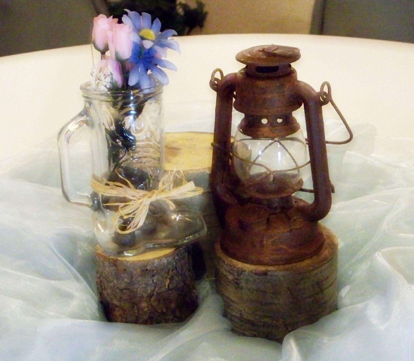 western wedding centerpieces  blue western wedding theme