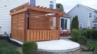 Outdoor Louvered Spa Enclosure / Hot Tub | Fence / Deck ...