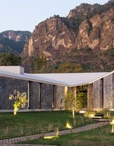 Nestled between two mountains  ma house features three pavilions that have also rh za pinterest