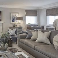 Grey blue and taupe in the rustic chic Esher project ...