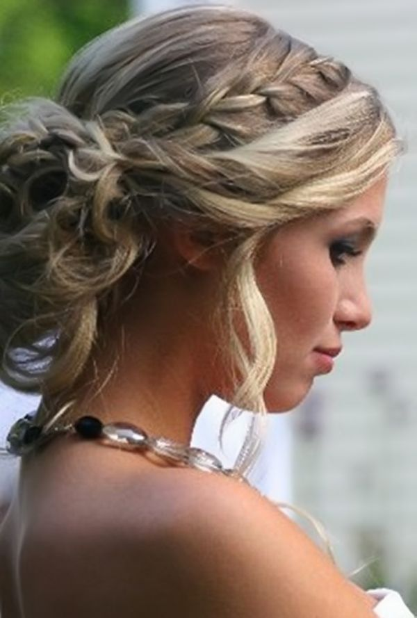 Prom Hairstyles For Long Hair Women's Updo Braids For Long Hair