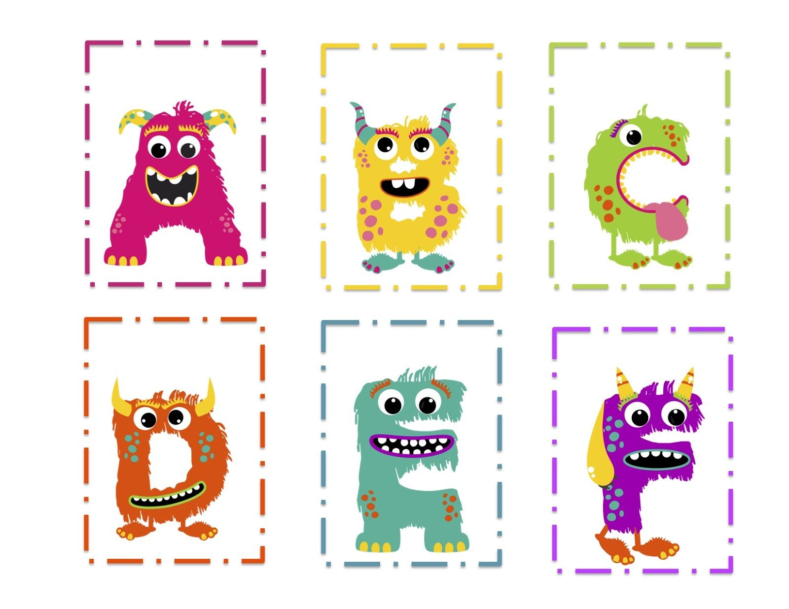 Preschool Printables Monsters This Site Has A Good Selection Of Themes