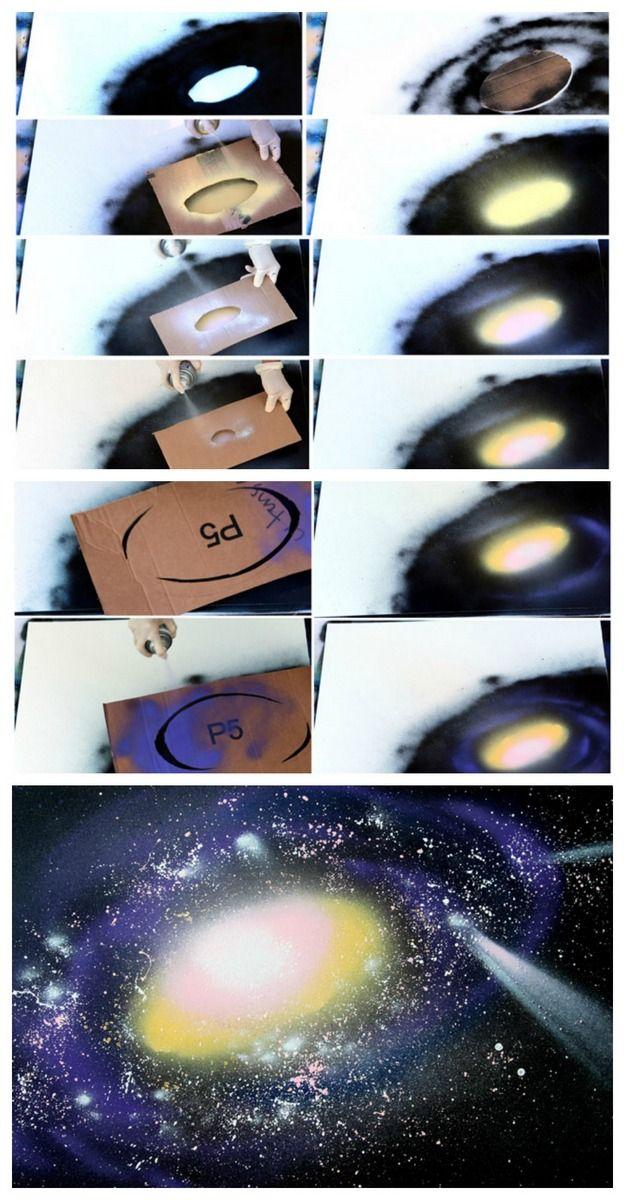 The 25 best Galaxy spray paint ideas on Pinterest  Boys star bedroom Boys room ideas and Star