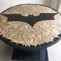 Batman Childrens Table And Chairs Swing Chair Amazon New Logo Mosaic Spool Things I 39ve Made