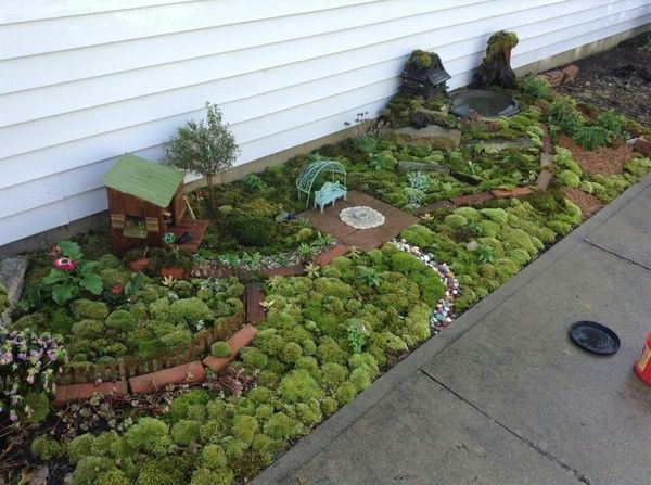Large Fairy Garden!!! Side Of House!!! Please Summer I'm