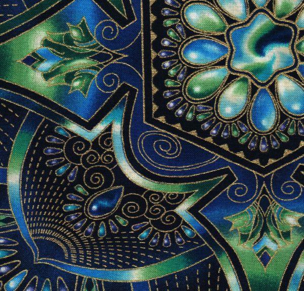 Robert Kaufman Peacock Lumina