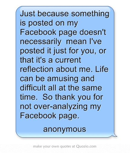 Facebook Nosey Quotes People About