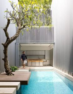 Architects ong  pte ltd location blair road singapore design team diego molina and maria arango interior furnishing yps house area also what  great oasis of light wood greenery water in home rh nz pinterest