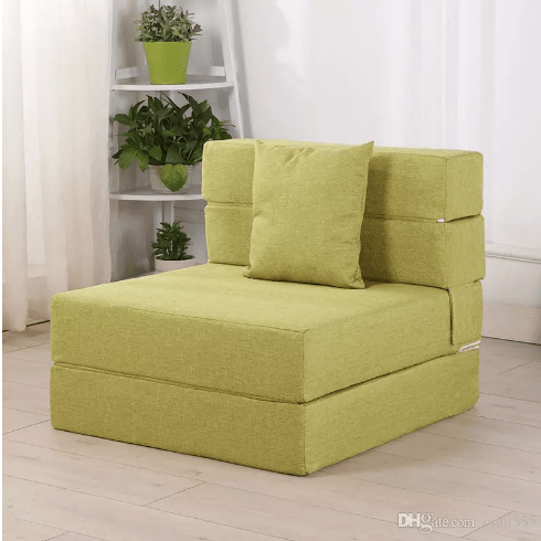 Lounge Sofa Bed Double Floor Recliner Chair With Triple Folded Structure Thick Mattress And 11 Fabric