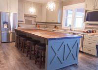 Farmhouse chic: sleek walnut butcher block countertop ...