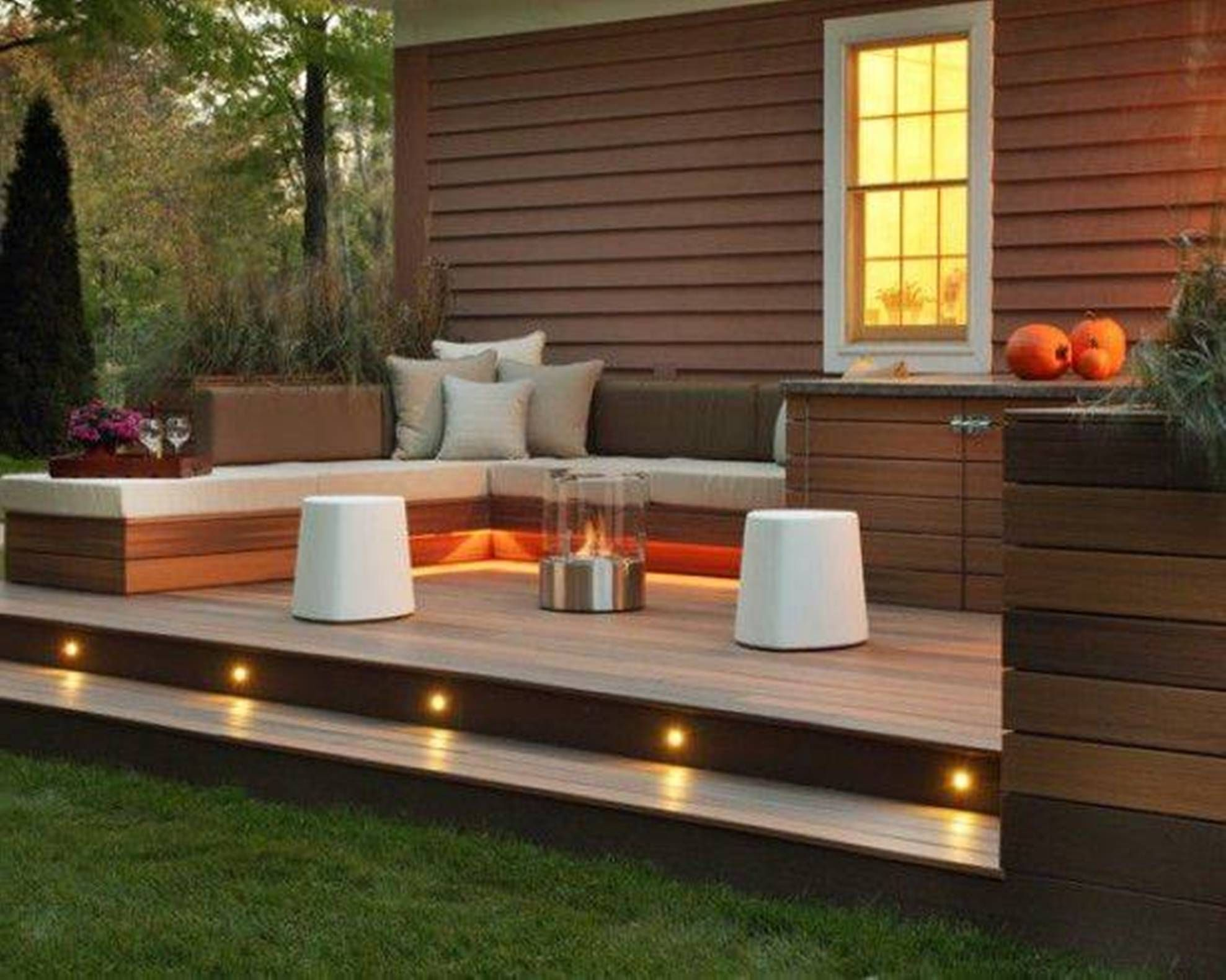 Landscaping And Outdoor Building Great Small Backyard Deck