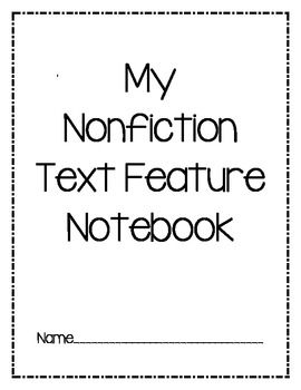 This is a great way to teach Non-Fiction text features in