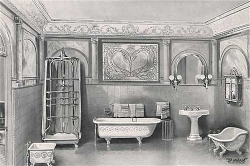 A Victorian Bathroom From The 1900's