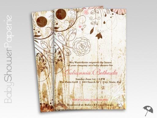 Vintage owl baby shower invitations paperinvite chaby chic shower invitations vintage shabby fl baby on diy owl filmwisefo