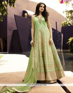608a823076c3b Latest interesting pista green art raw silk and indo western for festival  parties also cspan class