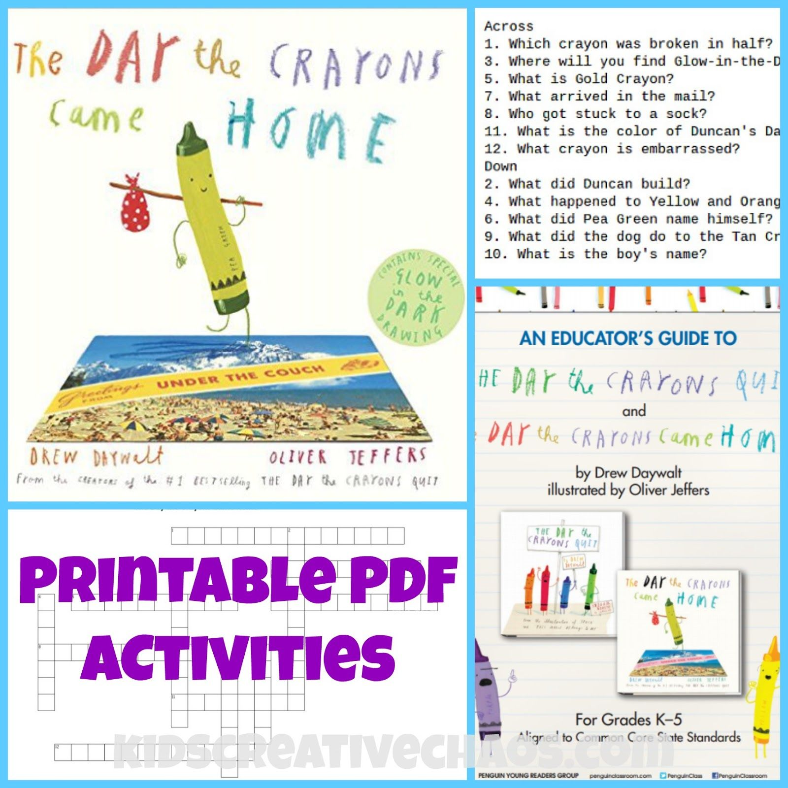 The Day The Crayons Came Home Activities Book Review