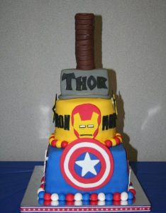 Cake for avengers party also cumpleanos super heroes pinterest rh