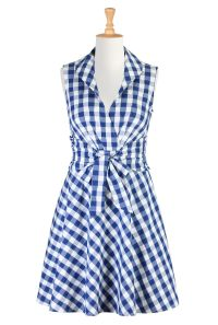 Gingham Check Cotton Dresses, Bow Tied Spring Dresses Shop ...