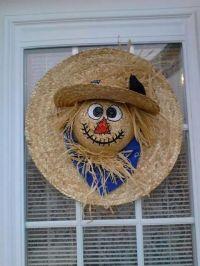 Scarecrow /straw hats | Scarecrows | Pinterest | Scarecrow ...
